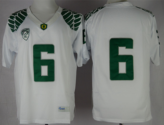 NCAA Oregon Ducks 6 Charles Nelson White Limit Football Jersey.