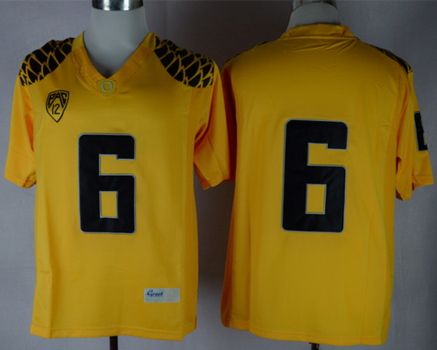 NCAA Oregon Ducks 6 Charles Nelson Yellow Limit Football Jersey