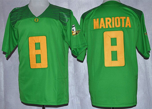 NCAA Oregon Ducks 8 Marcus Mariota Apple Green Nike 2015 College Football Playoff Rose Bowl Special Event Jersey