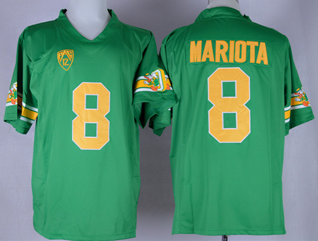NCAA Oregon Ducks 8 Marcus Mariota Green College 1994 Throwback Football Jersey
