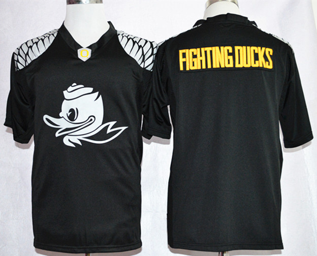 NCAA Oregon Ducks Fighting Ducks Black Nike Team Pride Fashion Football Jersey