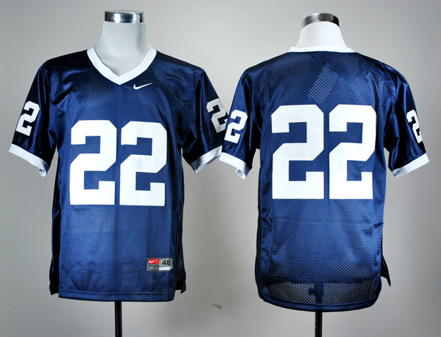 NCAA Penn State Nittany Lions 22 Navy Blue Nike College Football Jersey.