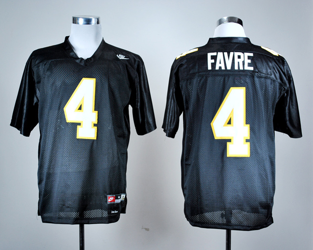 NCAA Southern Mississippi Golden Eagles 4 Brett Favre Black Nike College Football Throwback Jersey