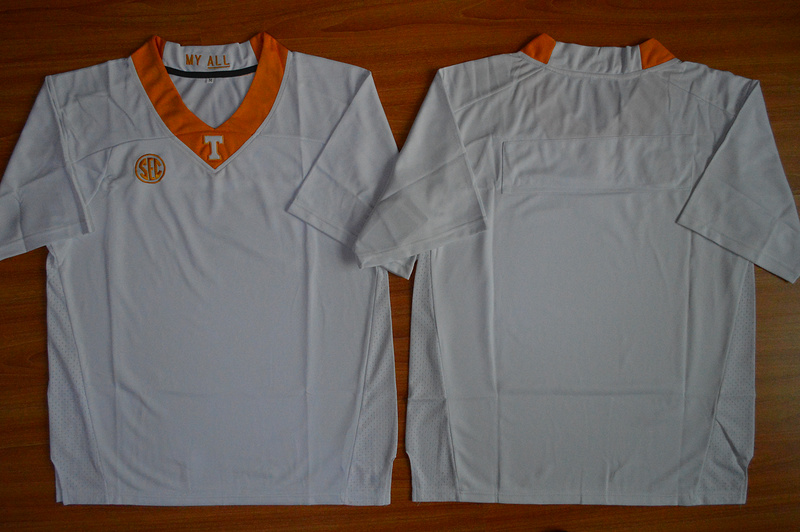 NCAA Tennessee Volunteers Blank White Football Jersey.