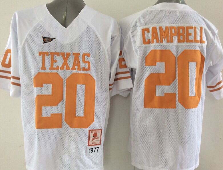 NCAA Texas Longhorns 20 Campbell White 2015 Jerseys