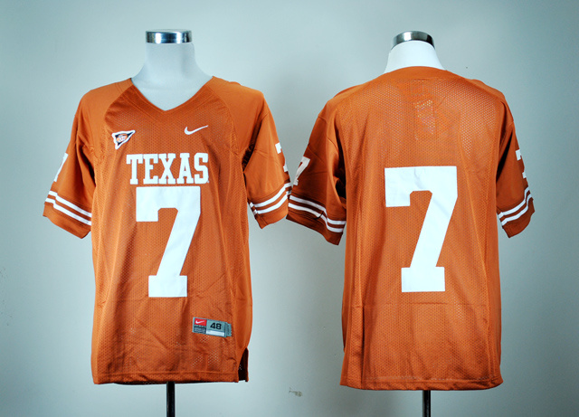NCAA Texas Longhorns 7 Garrett Gilbert Burnt Orange College Football Jersey