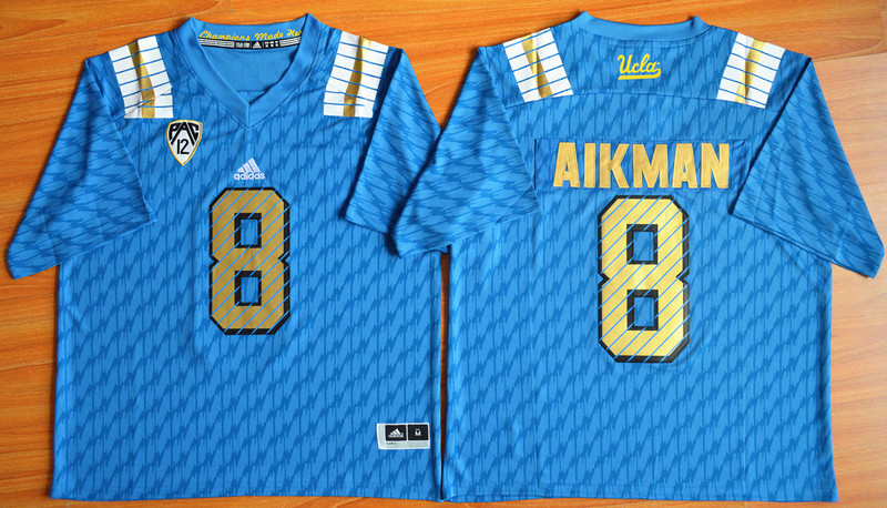 NCAA UCLA Bruins 8 Troy Aikman Blue College Football Jerseys