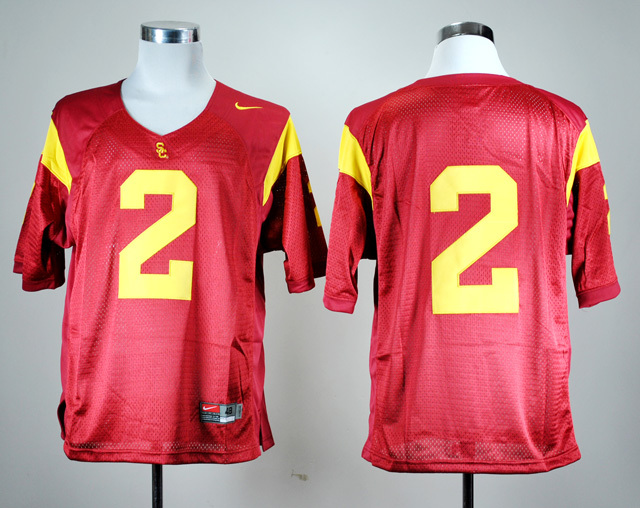 NCAA USC Trojans 2 Robert Woods 2 Red Nike College Football Jersey