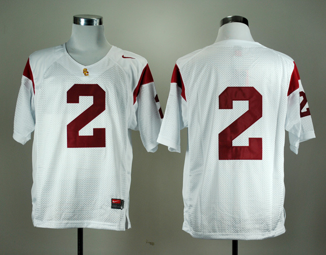 NCAA USC Trojans 2 Robert Woods White Nike College Football Jersey