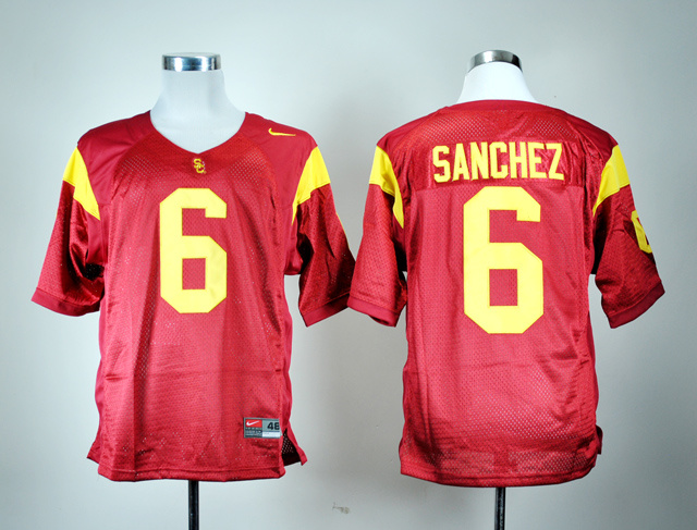 NCAA USC Trojans 6 Mark Sanchez Red Nike College Football Jersey