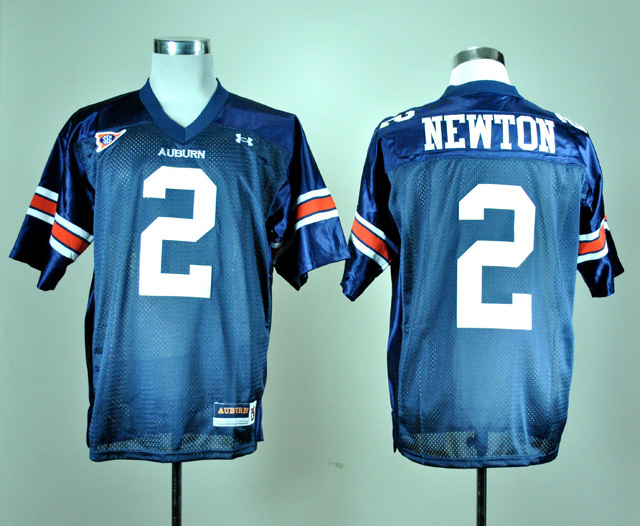 NCAA Under Armour Auburn Tigers 2 Cameron Newton Navy Blue College Football Jersey