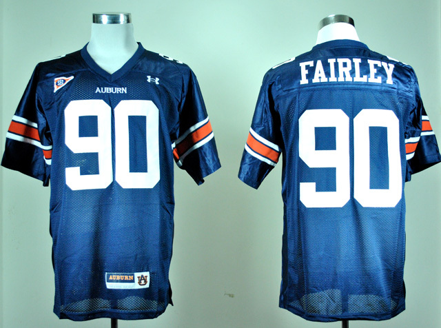 NCAA Under Armour Auburn Tigers 90 Nick Fairley Navy Blue College Football Jersey