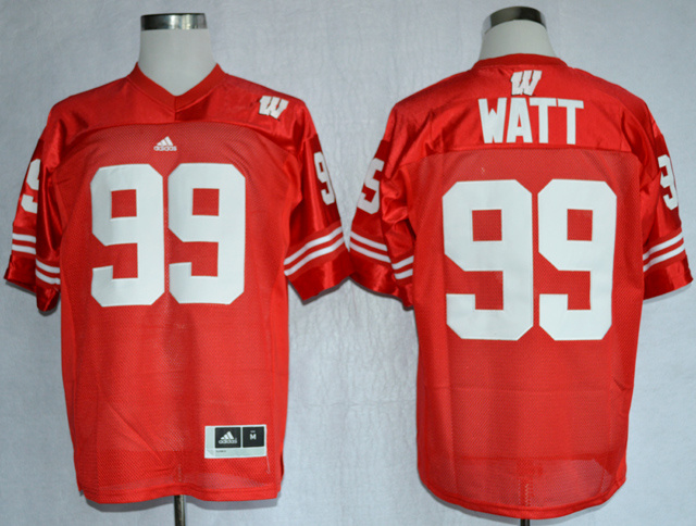 NCAA Wisconsin Badgers 99 J.J Watt Red College Football Jerseys