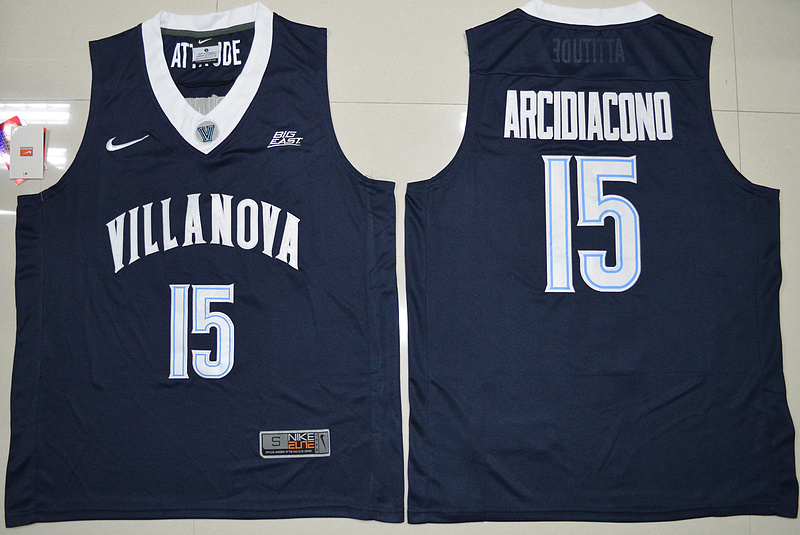 Villanova Wildcats Ryan Arcidiacono 15 College Basketball Jersey - Navy