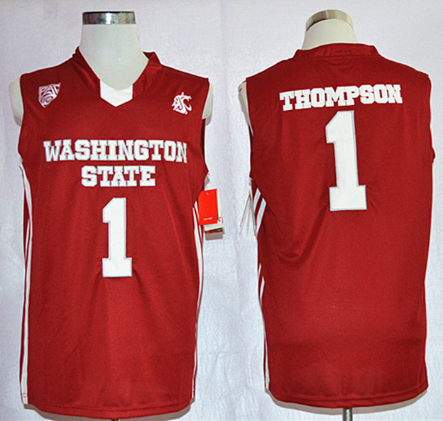 Washington State Cougars Klay Thompson 1 College Basketball Jersey - Red