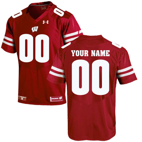 Wisconsin Badgers UA Customized Red Jersey