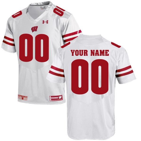 Wisconsin Badgers UA Customized White Jersey