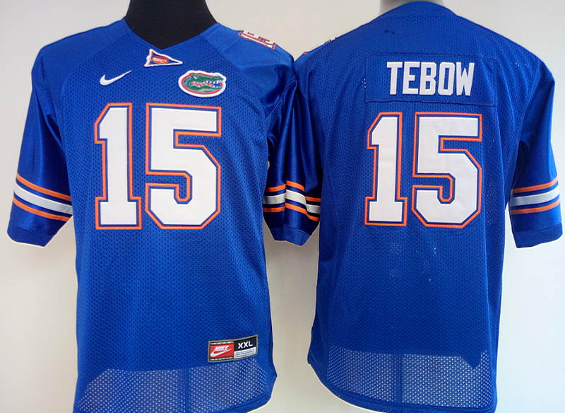 Womens 2016 NCAA Florida Gators 15 Tebow Blue Jerseys