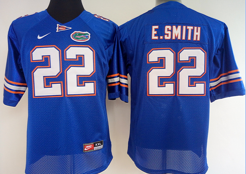 Womens 2016 NCAA Florida Gators 22 E.Smith Blue Jerseys