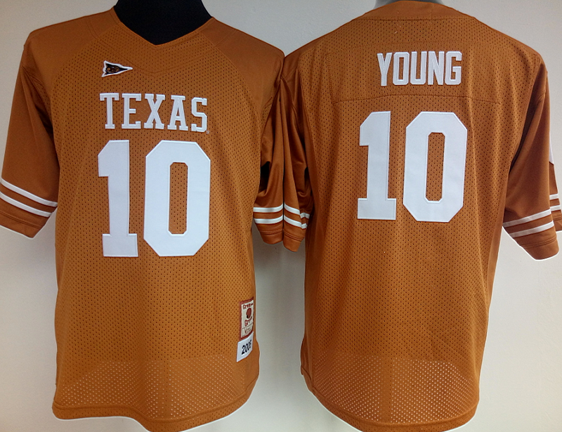 Womens 2016 NCAA Texas Longhorns 10 Young Yellow Jerseys