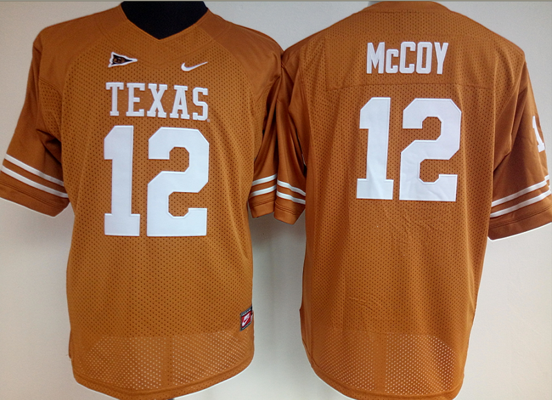 Womens 2016 NCAA Texas Longhorns 12 Mccoy Yellow Jerseys