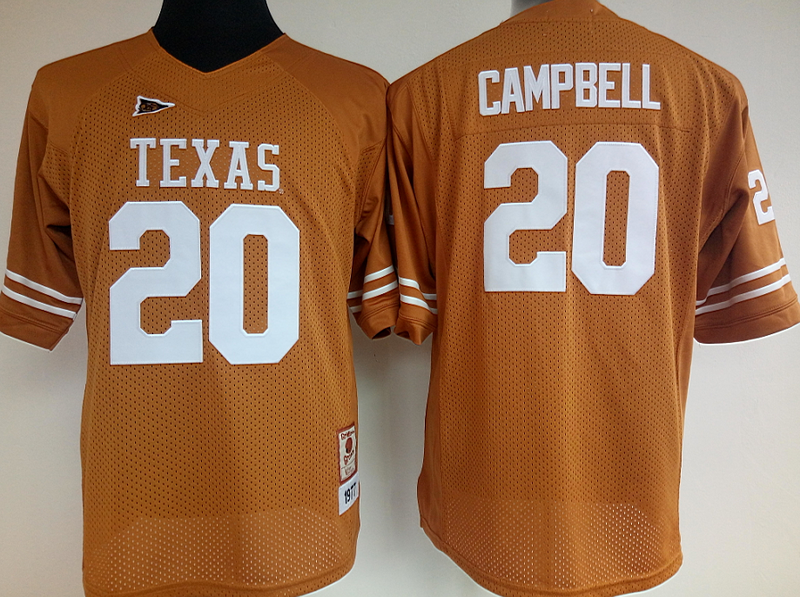 Womens 2016 NCAA Texas Longhorns 20 Campbell Yellow Jerseys