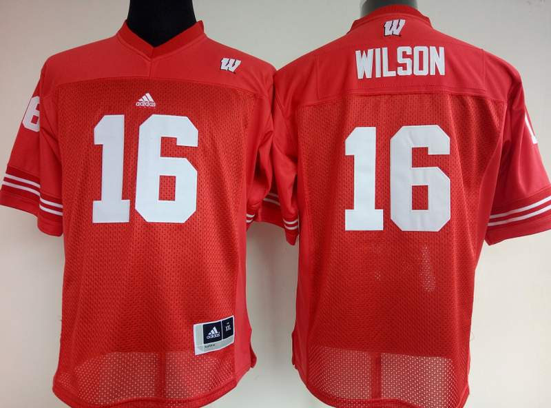 Womens 2016 NCAA Wisconsin Badgers 16 Wilson Red Jerseys