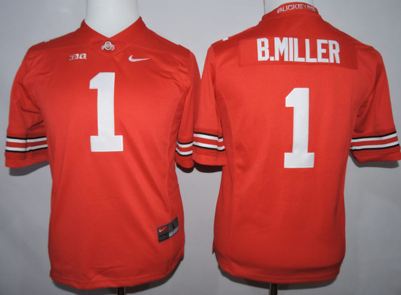 Womens NCAA Ohio State Beckeyes 1 B.Miller Red 2015 Jerseys.