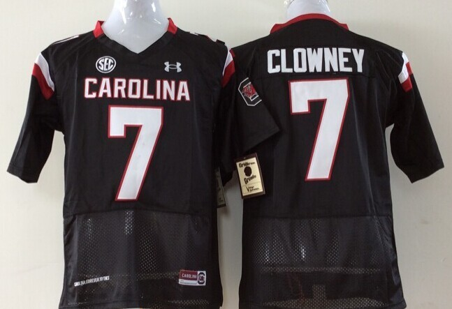 Youth 2016 NCAA South Carolina Gamecock 7 Clowney Black Jerseys