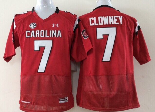 Youth 2016 NCAA South Carolina Gamecock 7 Clowney Red Jerseys