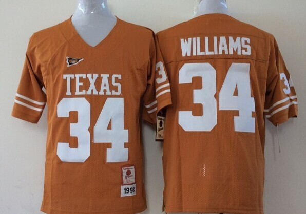 Youth 2016 NCAA Texas Longhorns 34 Williams Yellow Jerseys