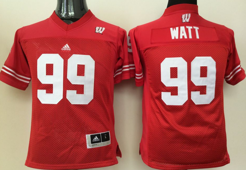 Youth 2016 NCAA Wisconsin Badgers 99 Watt Red Jerseys