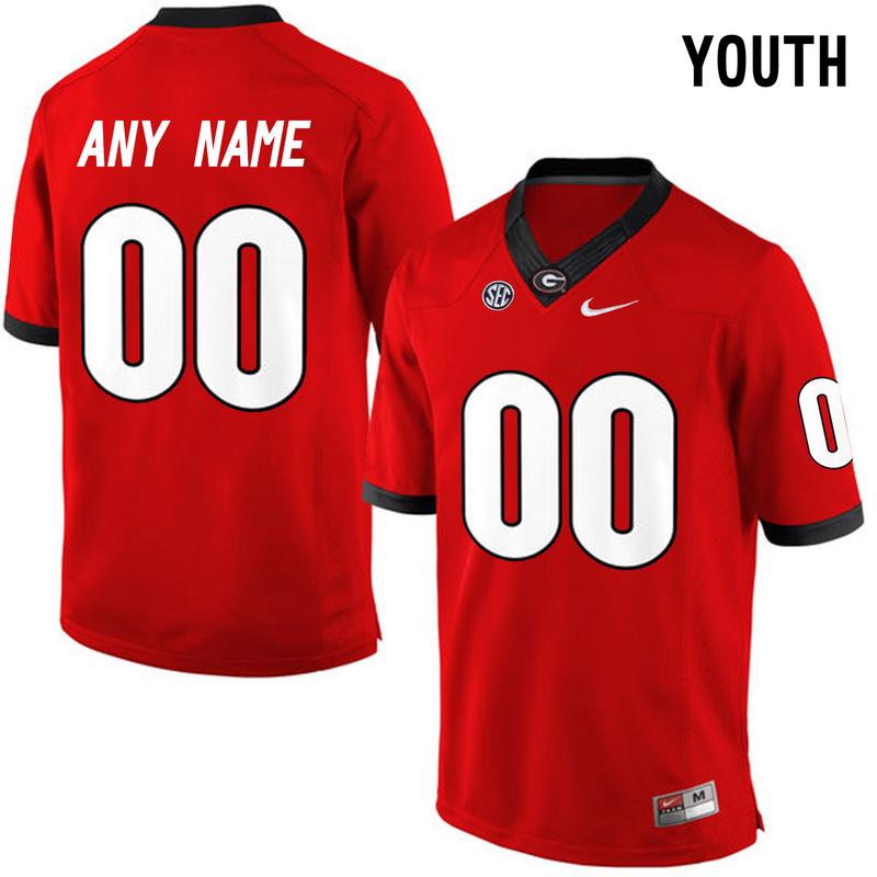 Youth Georgia Bulldogs Customized College Football Limited Jerseys Red