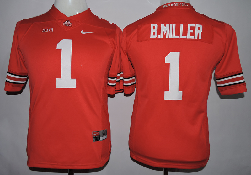 Youth NCAA Ohio State Beckeyes 1 B.Miller Red 2015 Jerseys