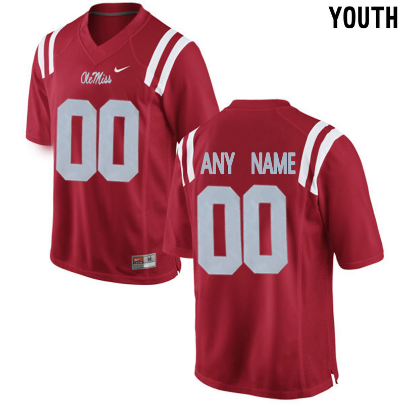 Youth Ole Miss Rebels Customized College Alumni Football Limited Jersey Red