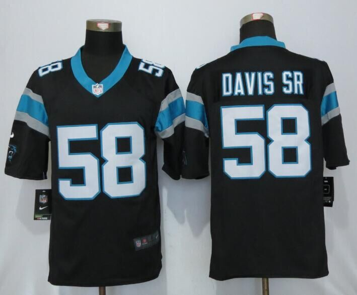 2016 Carolina Panthers 58 Davis sr Black Nike Limited Jerseys