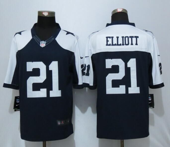 2016 Dallas cowboys 21 Elliott Blue Thanksgiving Nike Limited Jersey