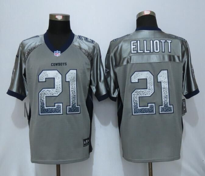 2016 Dallas cowboys 21 Elliott Drift Fashion Grey NEW Nike Elite Jerseys