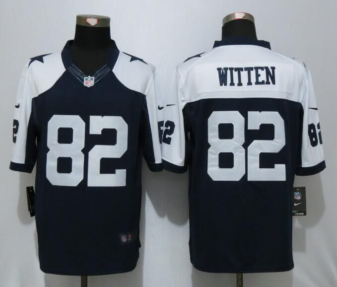 2016 Dallas cowboys 82 Witten Blue Thanksgiving Nike Limited Jersey
