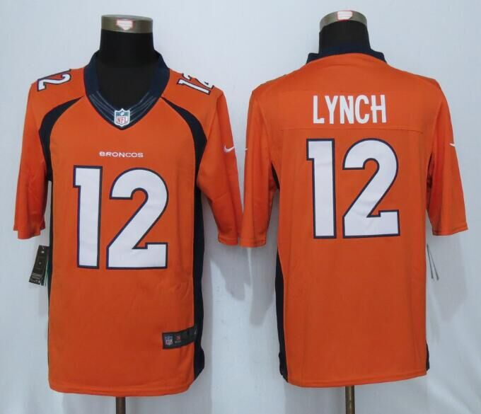 2016 Denver Broncos 12 Lynch Orange Nike Limited Jerseys