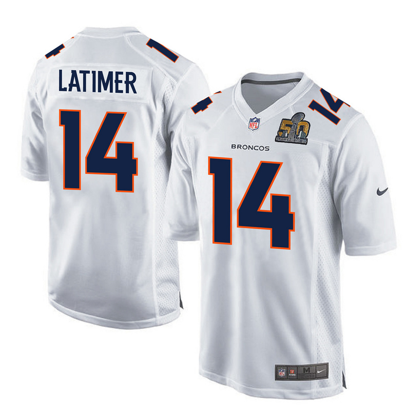 2016 Denver Broncos 14 Latimer White youth jerseys