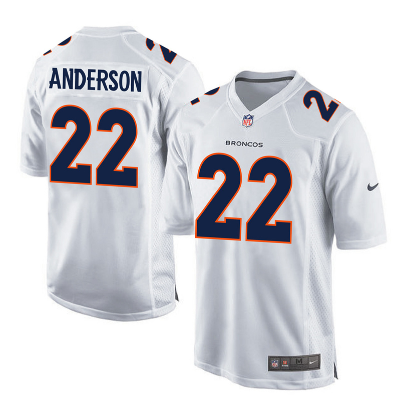 2016 Denver Broncos 22 Anderson White youth jerseys