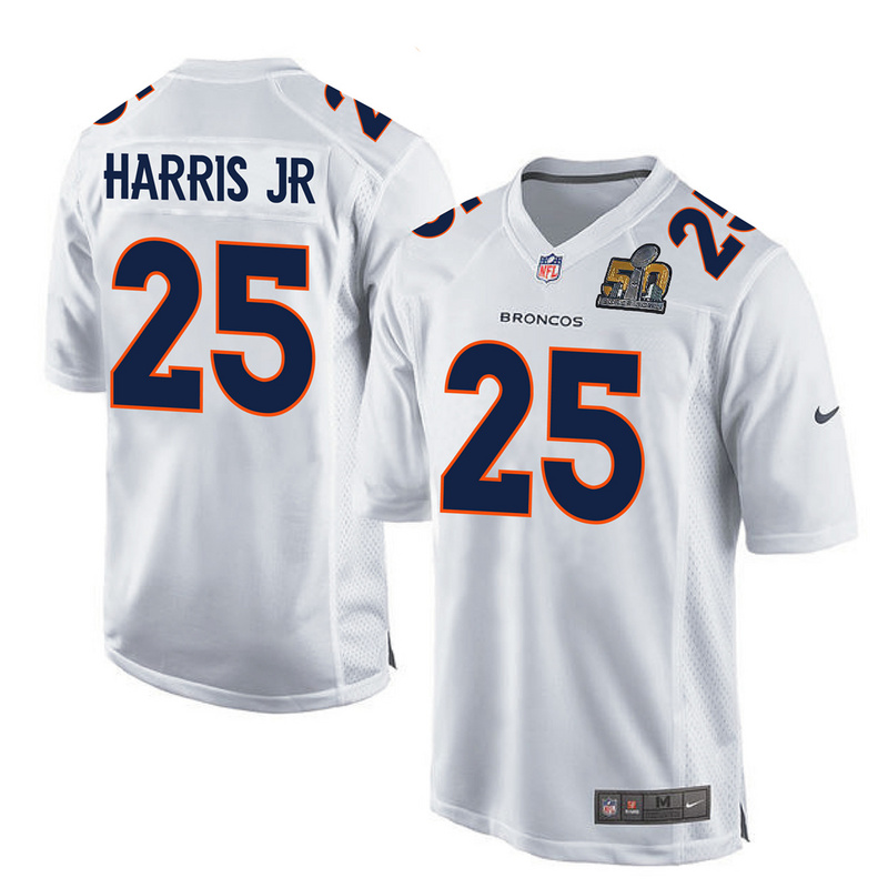 2016 Denver Broncos 25 Harris Jr White youth jerseys