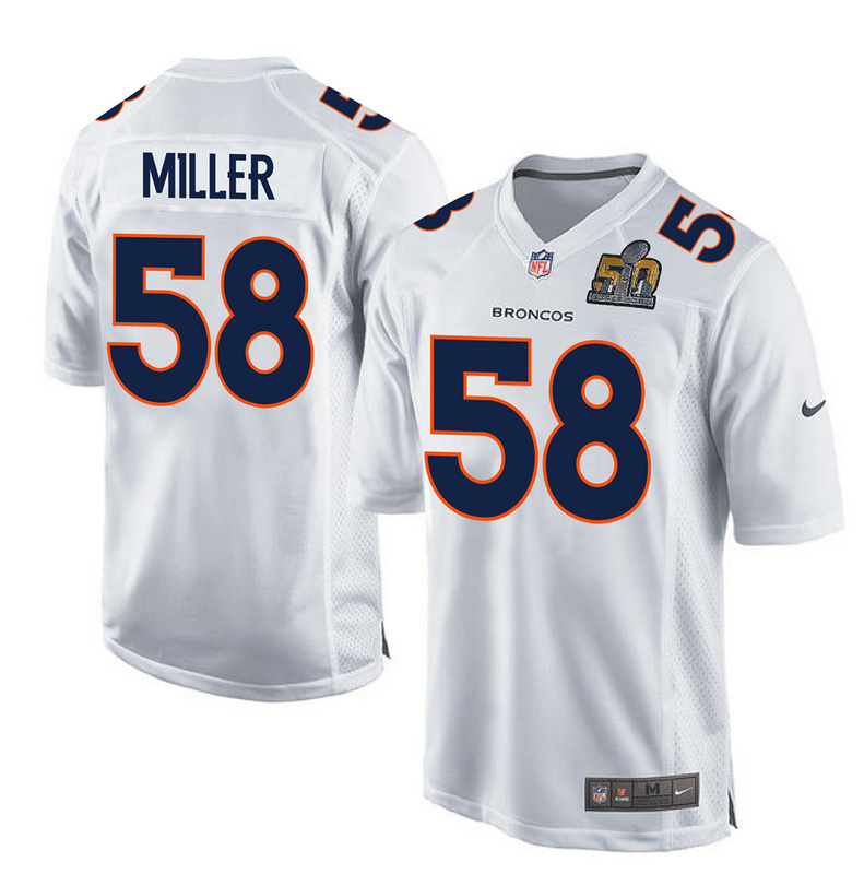 2016 Denver Broncos 58 Miller White youth jerseys