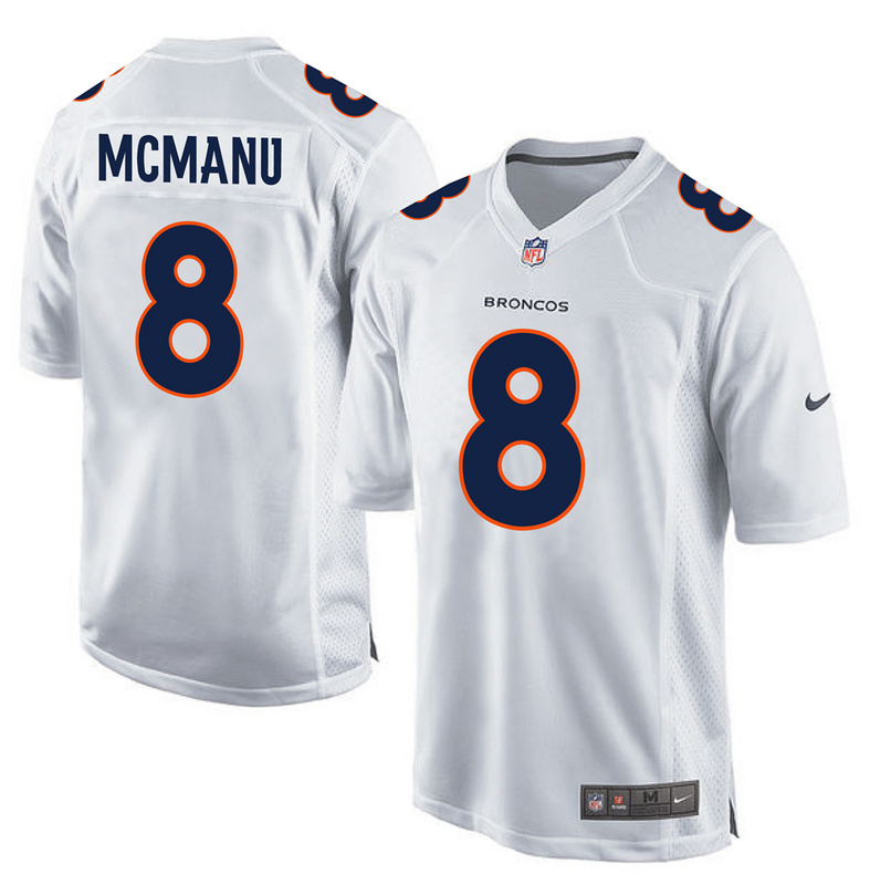 2016 Denver Broncos 8 Mcmanu White youth jerseys