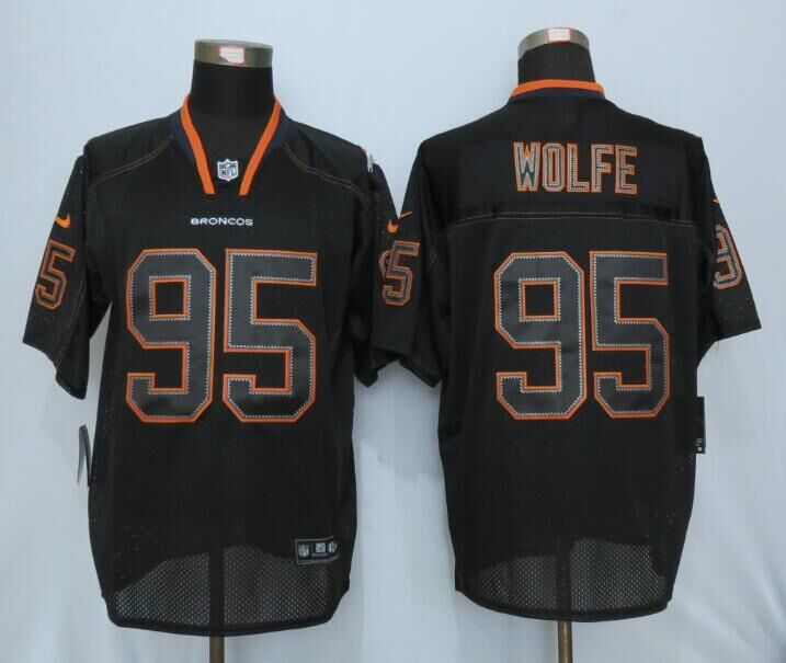 2016 Denver Broncos 95 Wolfe Lights Out Black Nike Elite Jerseys