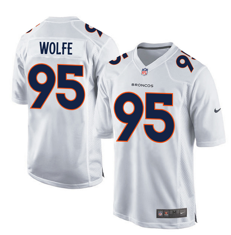 2016 Denver Broncos 95 Wolfe White youth jerseys
