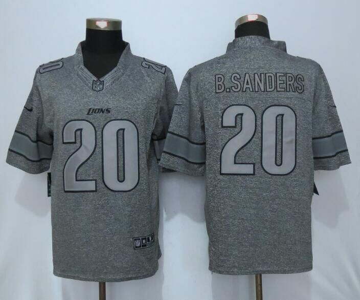 2016 Detroit Lions 20 B.Sanders Gray Men's Stitched Gridiron Gray New Nike Limited Jersey