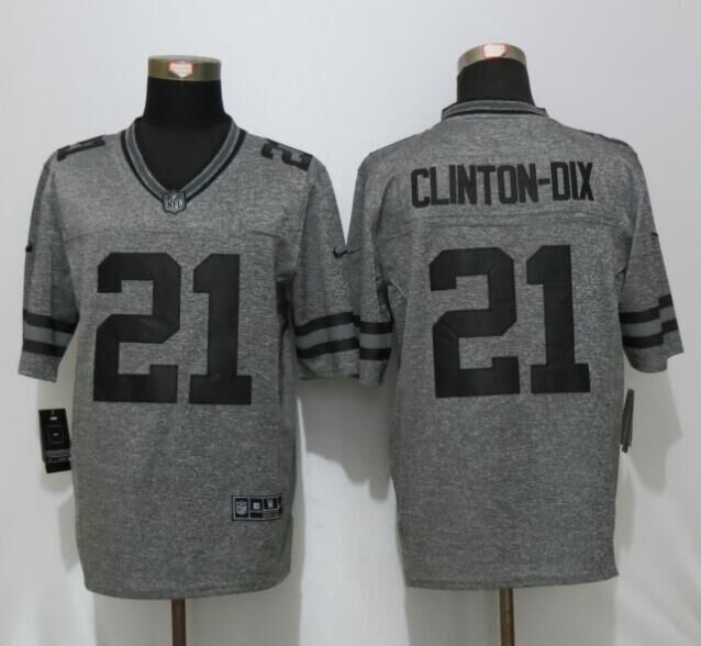 2016 Green Bay Packers 21 Clinton-Dix Gray Men's Stitched Gridiron Gray New Nike Limited Jersey