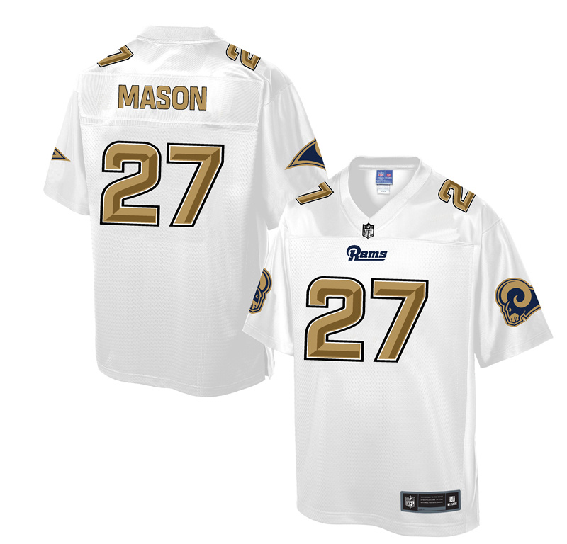 2016 Los Angeles Rams 27 Mason White Nike Elite Fashion Jerseys